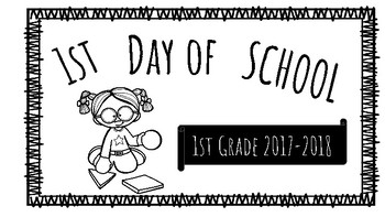 Freebie: First Day of School Signs
