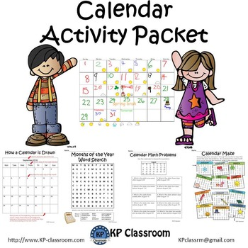 Calendar Activity Packet and Worksheets