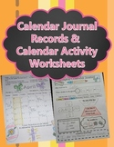 Calendar Activity Sheets and Calendar Journal