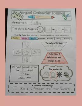 Calendar Activity Sheets and Calendar Journal