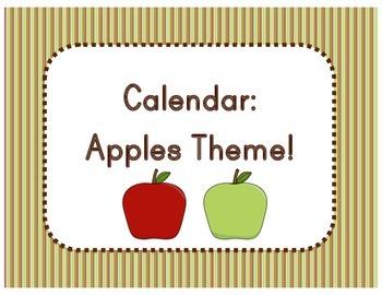 Calendar: Apple Theme  (Pocket Chart)