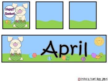 Calendar: April  ~ Easter Number Order 1-30