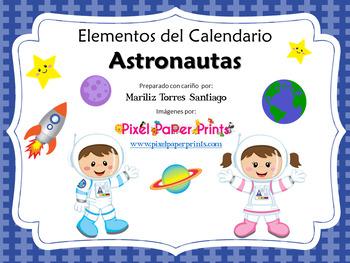 Calendar: Astronaut: Spanish & English