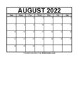Calendar August 2021 (FREE Blank PDF Format)
