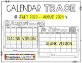 Calendar BUNDLE [ Tracing & Blank Version]