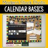 Modern Stock Photo Calendar Bulletin Board Set