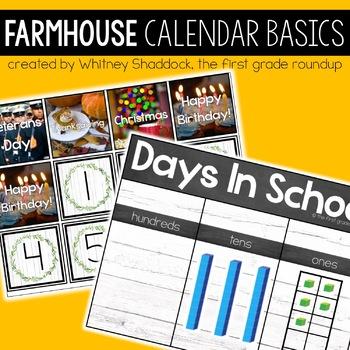 Farmhouse Decor for Calendar Basics