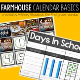 Farmhouse Calendar Bulletin Board Set