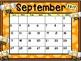 Calendar - Bee Theme - School Year Calendar