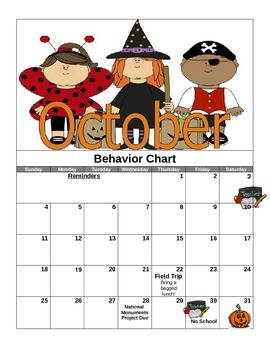 Calendar Behavior Charts