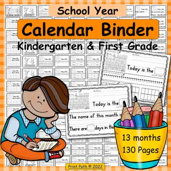 Calendar Binder for Kindergarten and 1st Grade