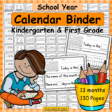 Calendar Binder for Kindergarten and 1st Grade