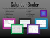 Calendar Binder