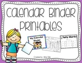 Calendar Binder Printables 2018-2019