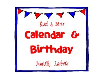 Calendar & Birthday Month Labels