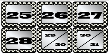 Classroom Bundle - Black & White Polka Dots