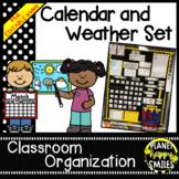 Calendar ~ Black and White Polka Dots