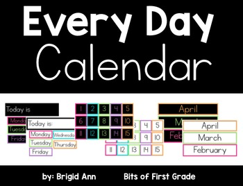 Calendar (Black and White Series Bundle)