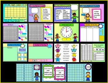 Calendar Board - An Interactive Promethean Board Flipchart
