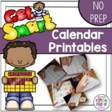 No Prep Calendar Book Printables