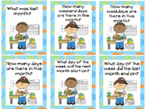 Calendar Bulletin Board Collection Ocean Theme