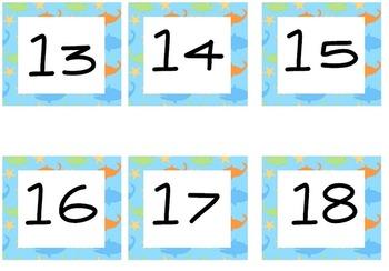 Calendar Bulletin Board Collection Ocean Theme