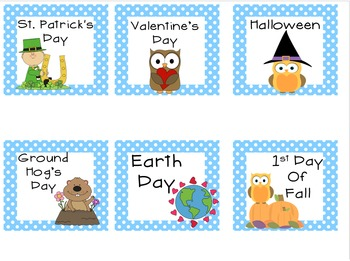 Calendar Bulletin Board Collection Owl Theme