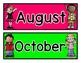 Calendar Bulletin Board Pieces