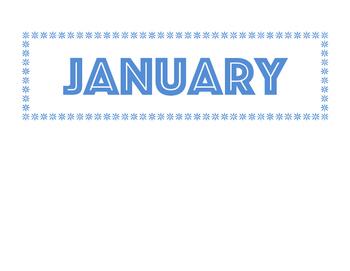 Calendar Bulletin Board Set