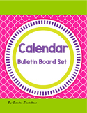 Calendar Bulletin Board Set Chalkboard & Bright