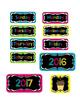 Calendar Bulletin Board Set Chalkboard & Bright