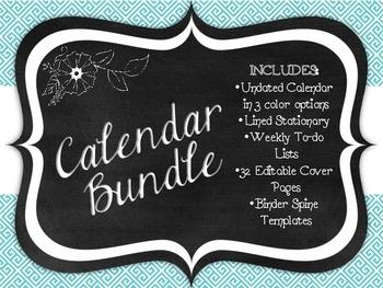 Teacher Binder Calendar Bundle