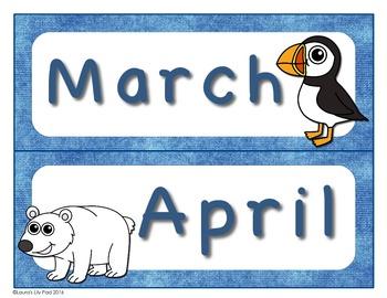 Polar Theme Calendar Bundle