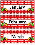 Calendar Bundle~ Red Polka Apple Buddies