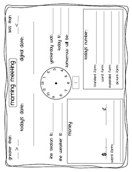 Calendar Bundle [morning meeting, calendar journal & daily review all in one!]