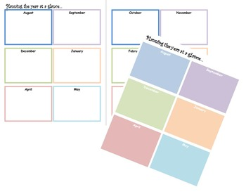 Calendar Bundle with Weekly and Monthly planning sheets
