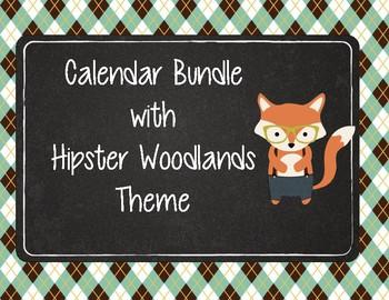 Calendar Bundle with Woodland Hipster Animals