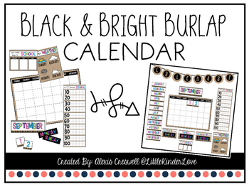 Calendar: Burlap and Bright