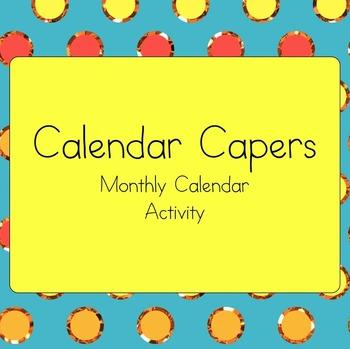 Calendar Skills {A Simple & Fun Monthly Calendar Activity}