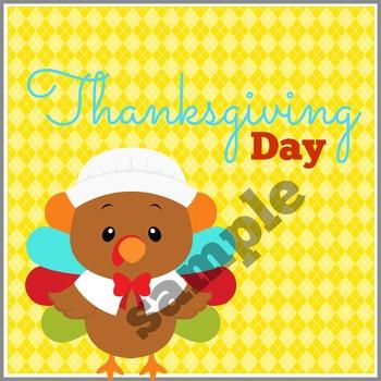 Thanksgiving Calendar Card