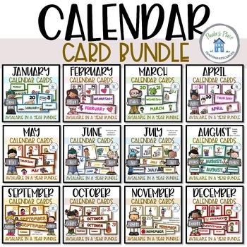Calendar Card Bundle - for the whole year