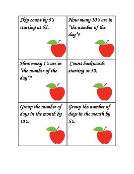 Calendar Card Questions-Editable