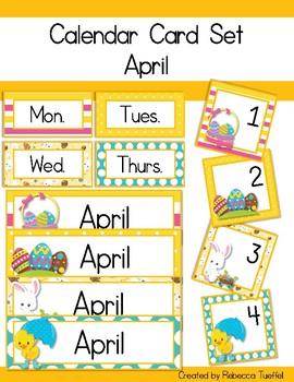 Calendar Card Set: April