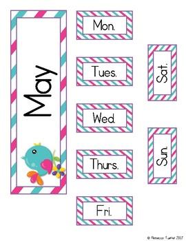 Calendar Card Set: May