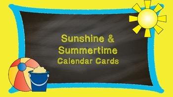 Calendar Card Set- Sunshine & Summertime