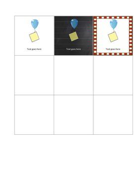 Calendar Card Templates -- Montessori 3-Part Cards