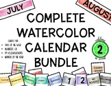 Calendar Card Watercolor Complete Set