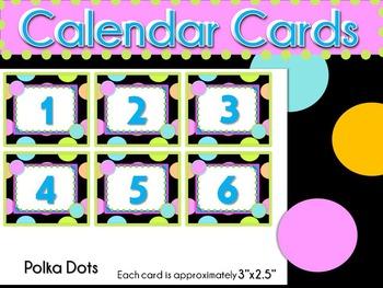Calendar Cards- Whole Year