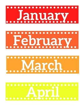 Calendar Printable Cards