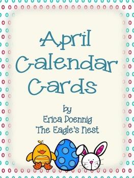 Calendar Cards--April